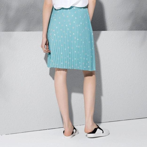 Blue Women's Pleated Skirt