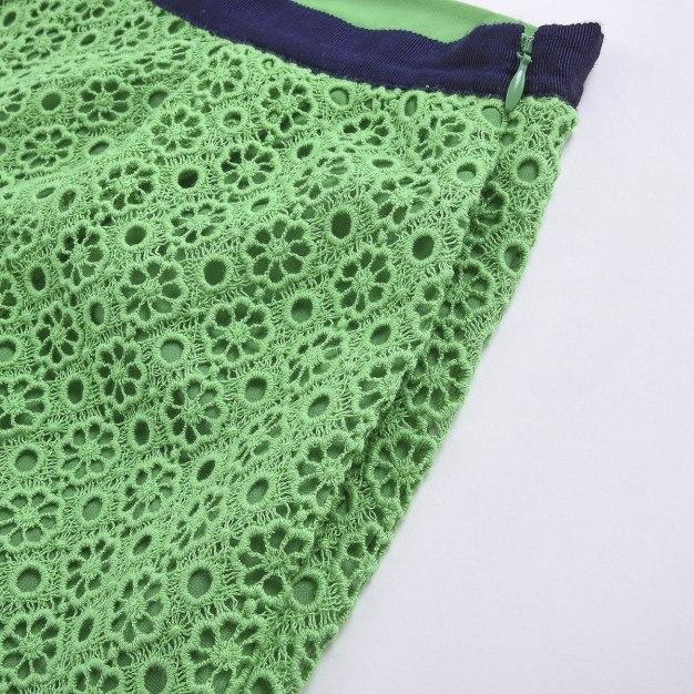 Green Cut Out Short Women's Pants