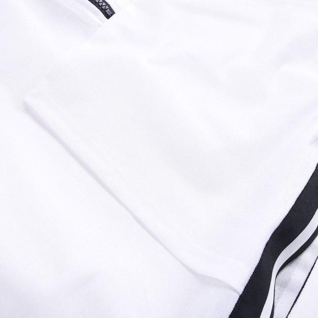 White Plain Round Neck 3/4 Sleeve Women's T-Shirt