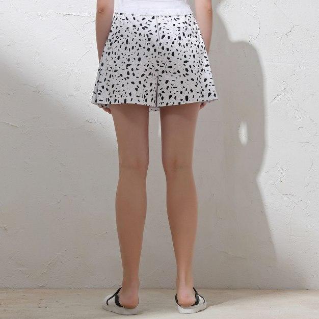 Black Slit Short Women's Pants