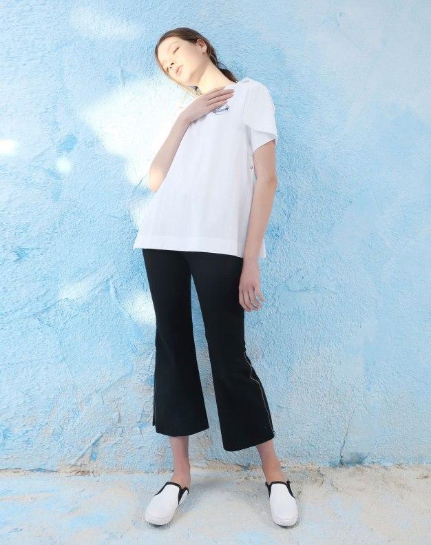 White Plain Round Neck Short Sleeve Loose Women's T-Shirt