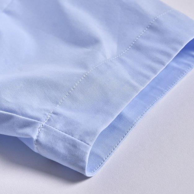 Blue V Neck 3/4 Sleeve Loose Women's T-Shirt