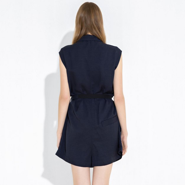 Button Fly Women's Rompers