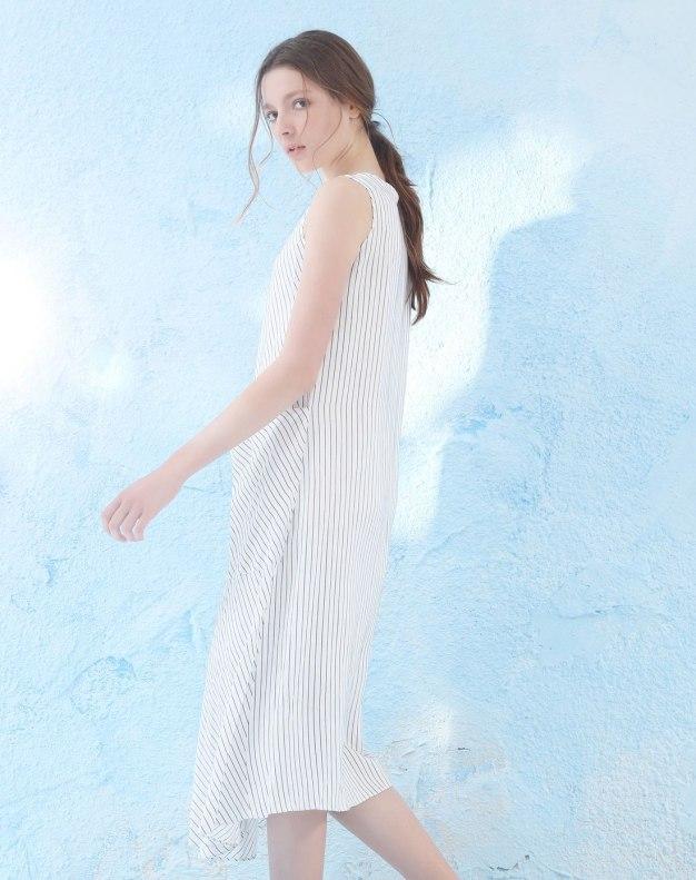 Round Neck Sleeveless Asymmetric Women's Dress