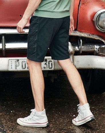 Black Drawstring Type Light Elastic CroppedPants Men's Pants