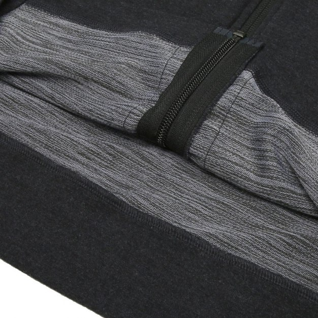 Black Round Neck Long Sleeve Standard Men's Jacket