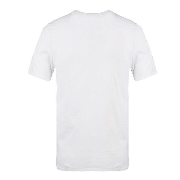 White Short Sleeve Standard Round Neck Men's T-Shirt