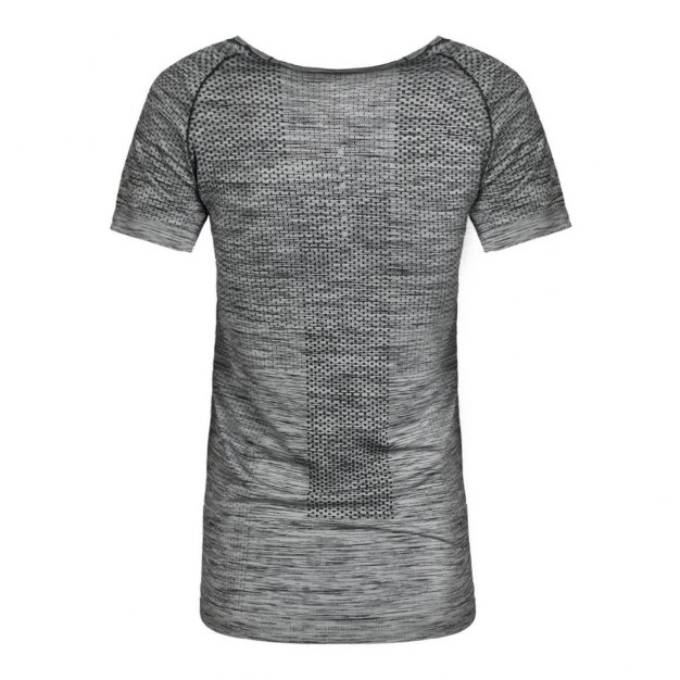 그레이 반팔 표준 여성 티셔츠