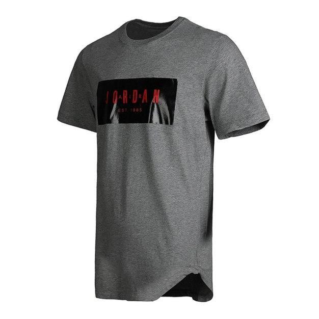 Gray Short Sleeve Standard Round Neck Men's T-Shirt